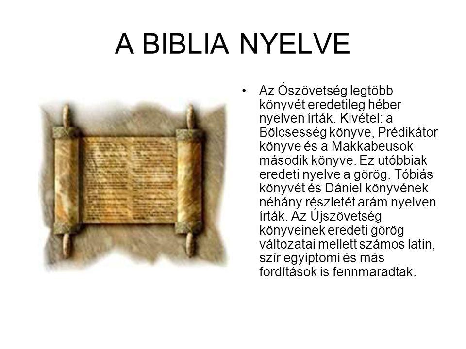 A BIBLIA NYELVE