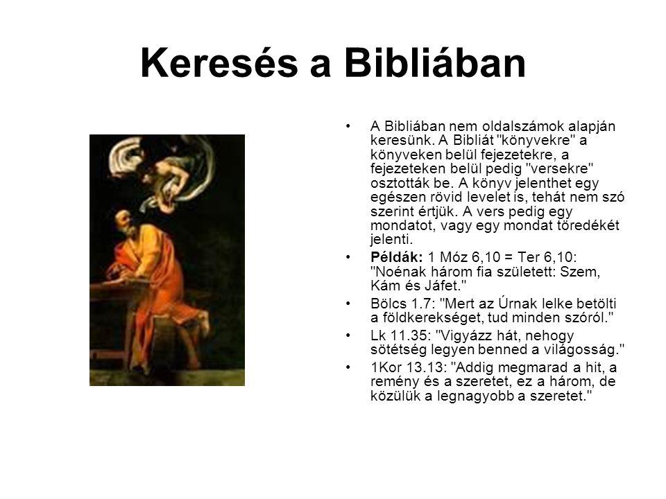 Keresés a Bibliában