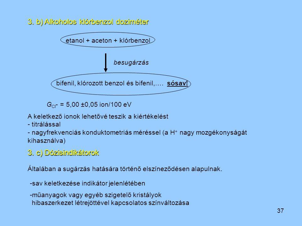 3. b) Alkoholos klórbenzol doziméter
