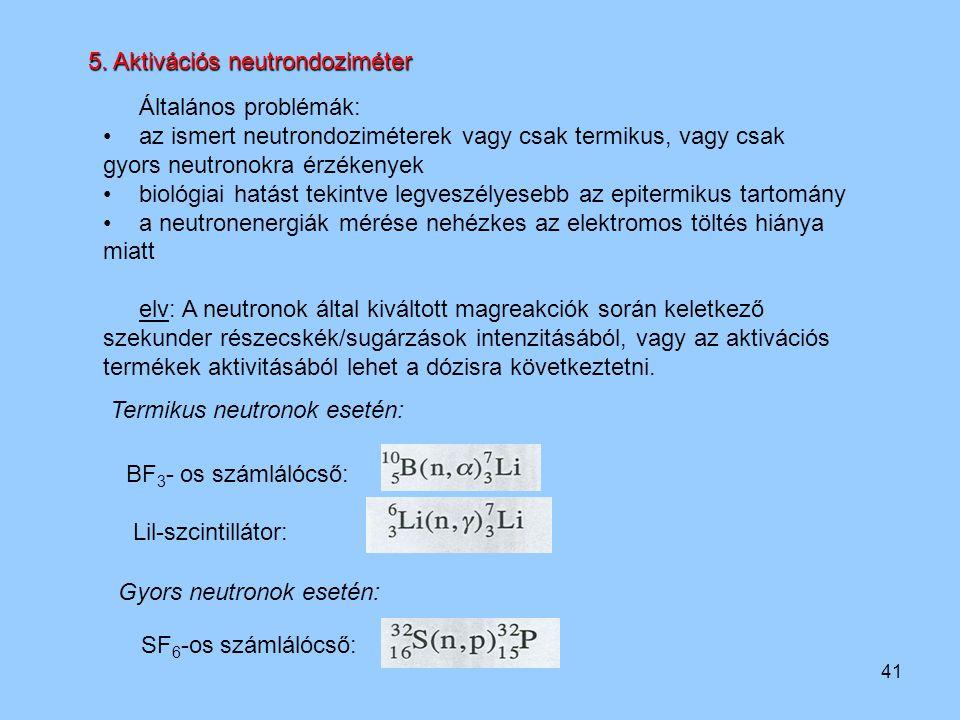 5. Aktivációs neutrondoziméter