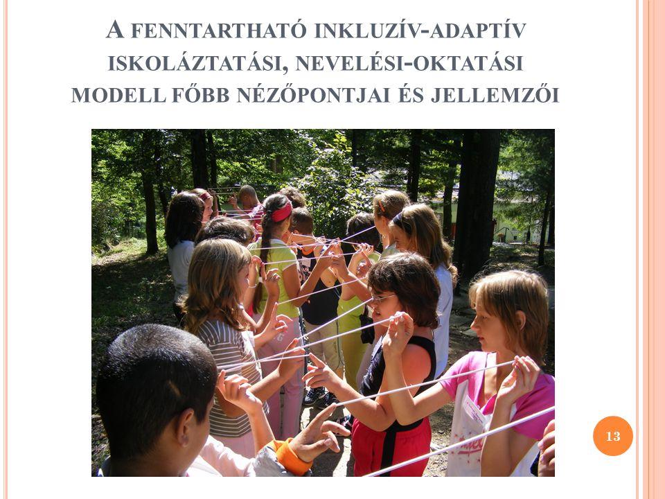 A fenntartható inkluzív-adaptív iskoláztatási, nevelési-oktatási modell főbb nézőpontjai és jellemzői