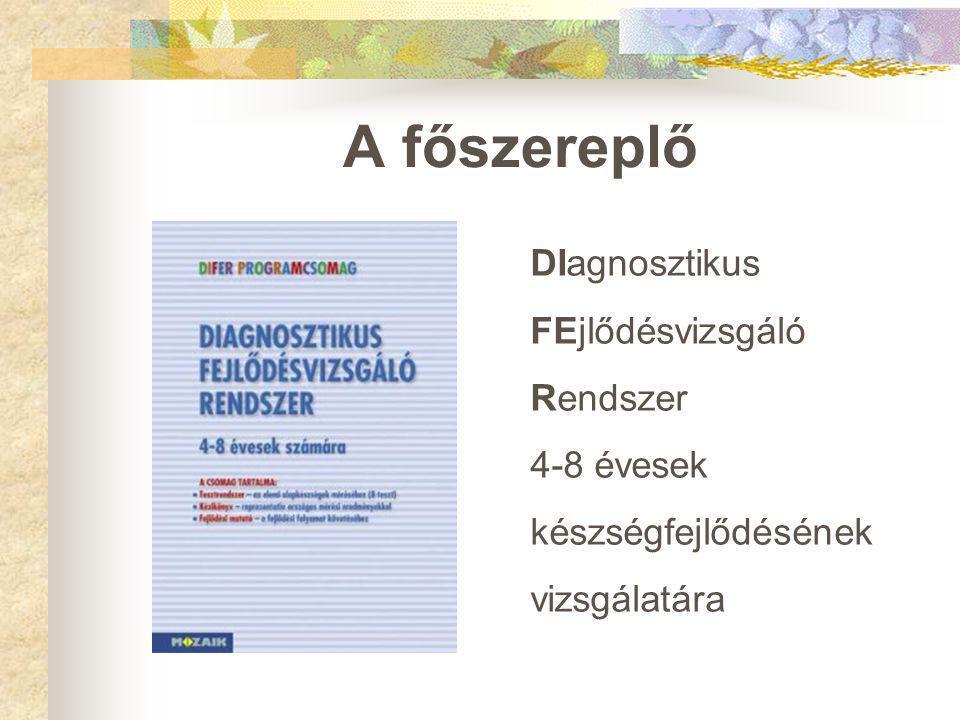 A főszereplő DIagnosztikus FEjlődésvizsgáló Rendszer 4-8 évesek készségfejlődésének vizsgálatára