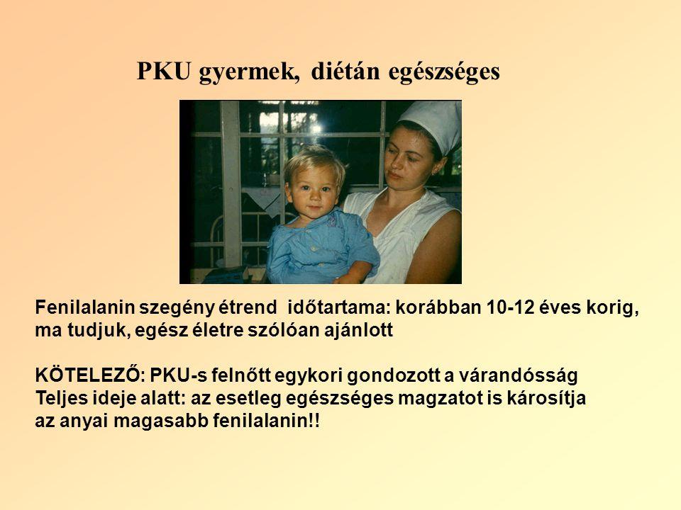 PKU gyermek, diétán egészséges