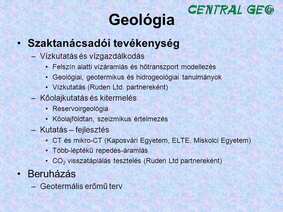 Geológia Szaktanácsadói tevékenység Beruházás