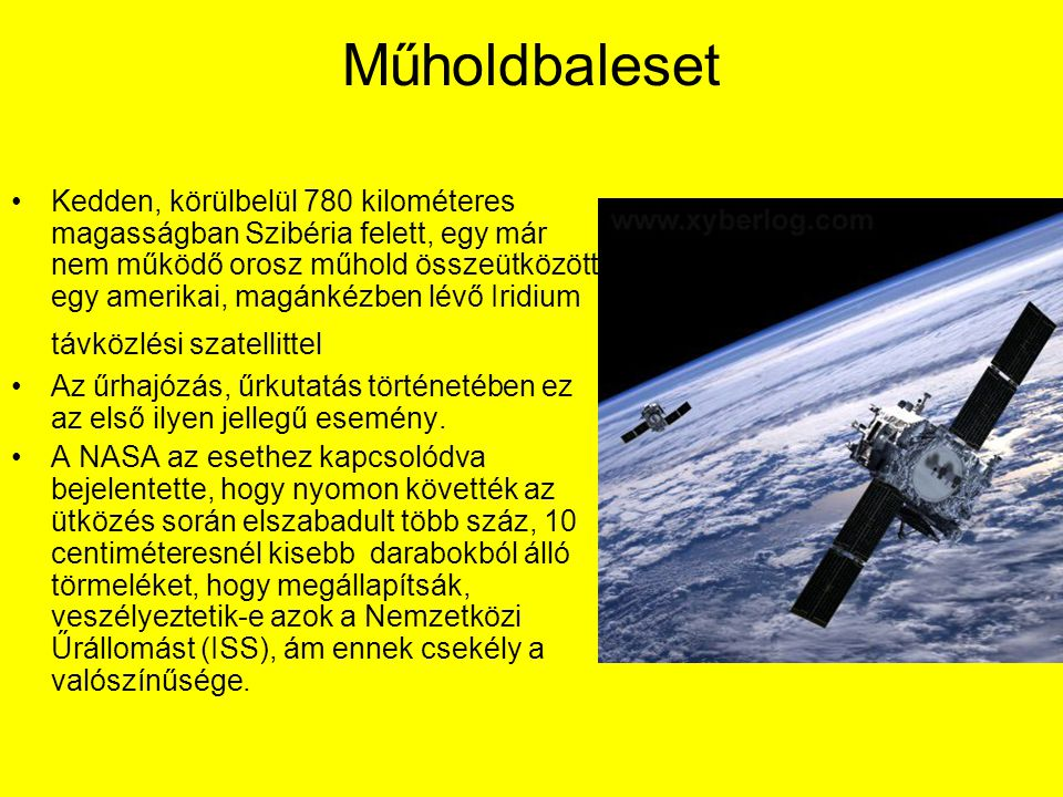 Műholdbaleset