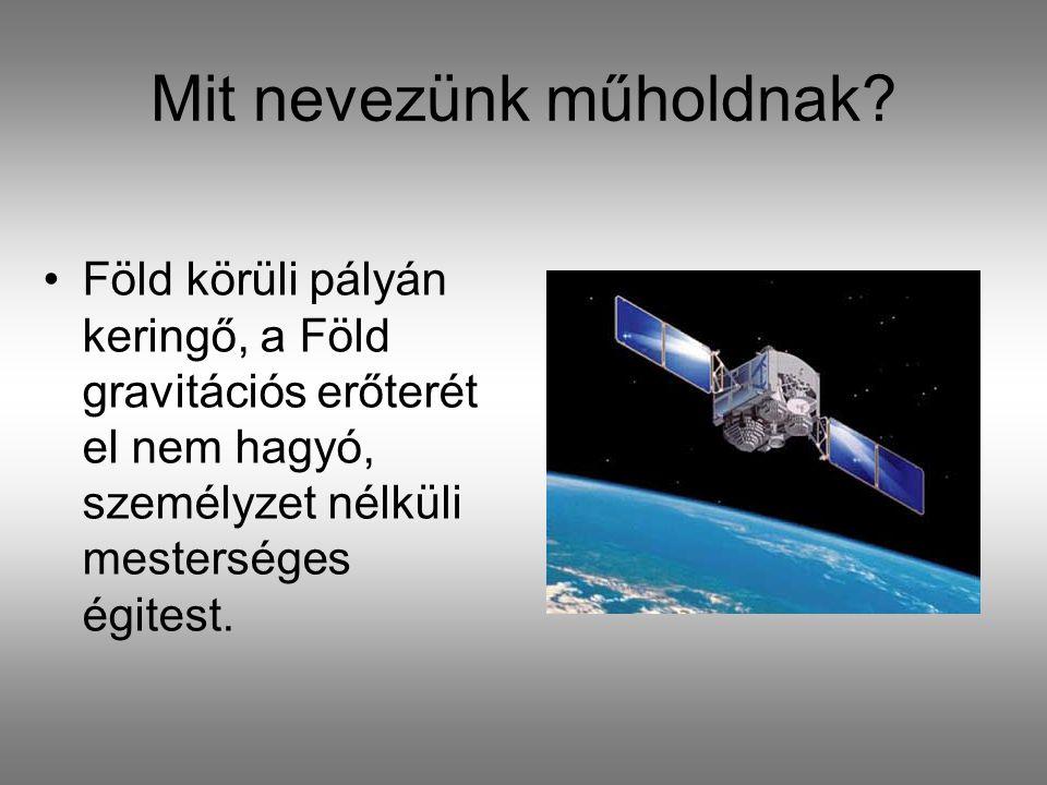 Mit nevezünk műholdnak