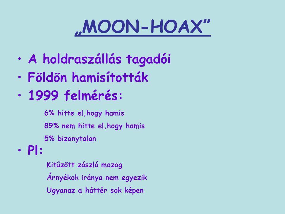 """""""MOON-HOAX A holdraszállás tagadói Földön hamisították 1999 felmérés:"""