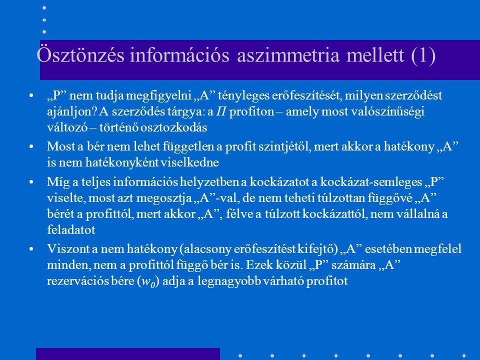 Ösztönzés információs aszimmetria mellett (1)