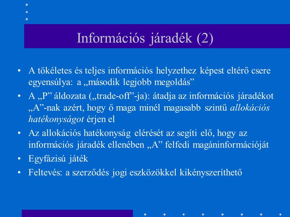 Információs járadék (2)