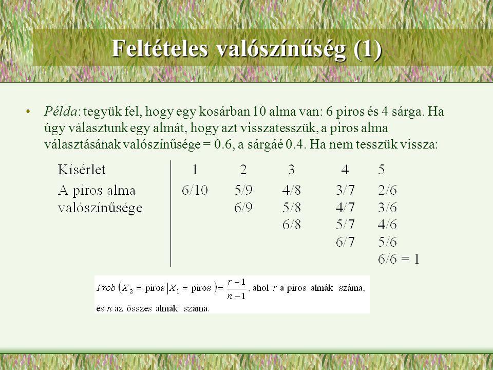 Feltételes valószínűség (1)