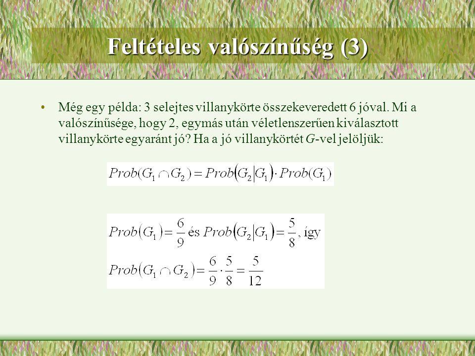 Feltételes valószínűség (3)