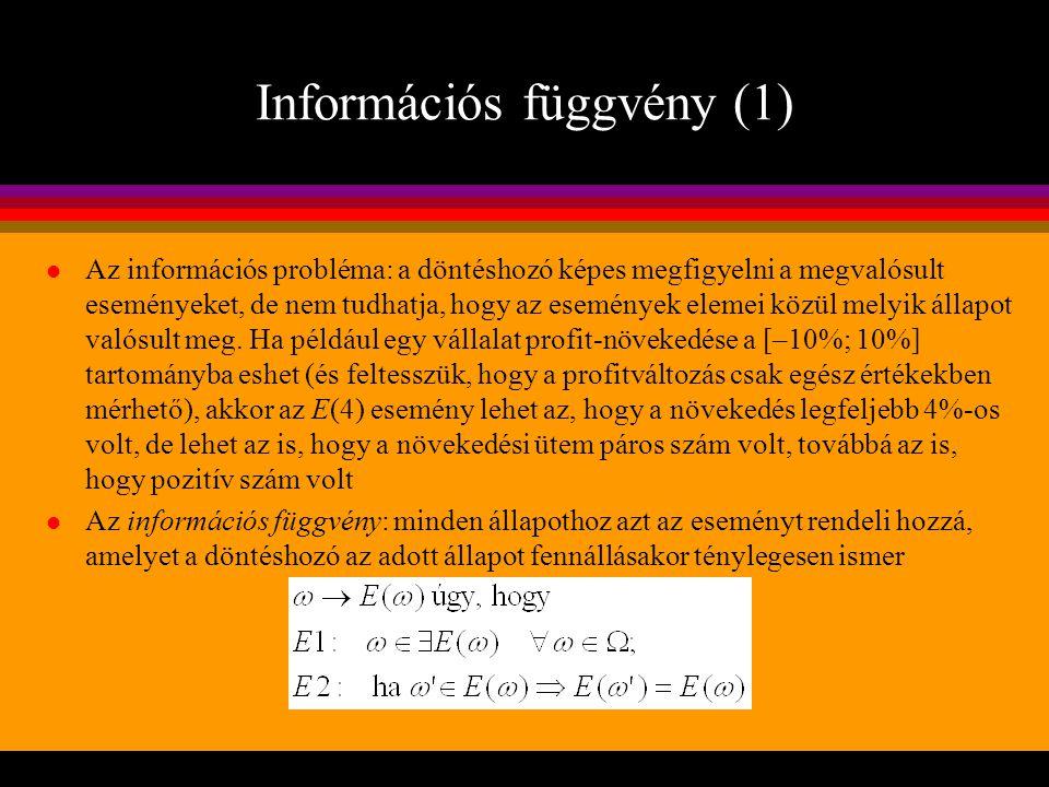 Információs függvény (1)