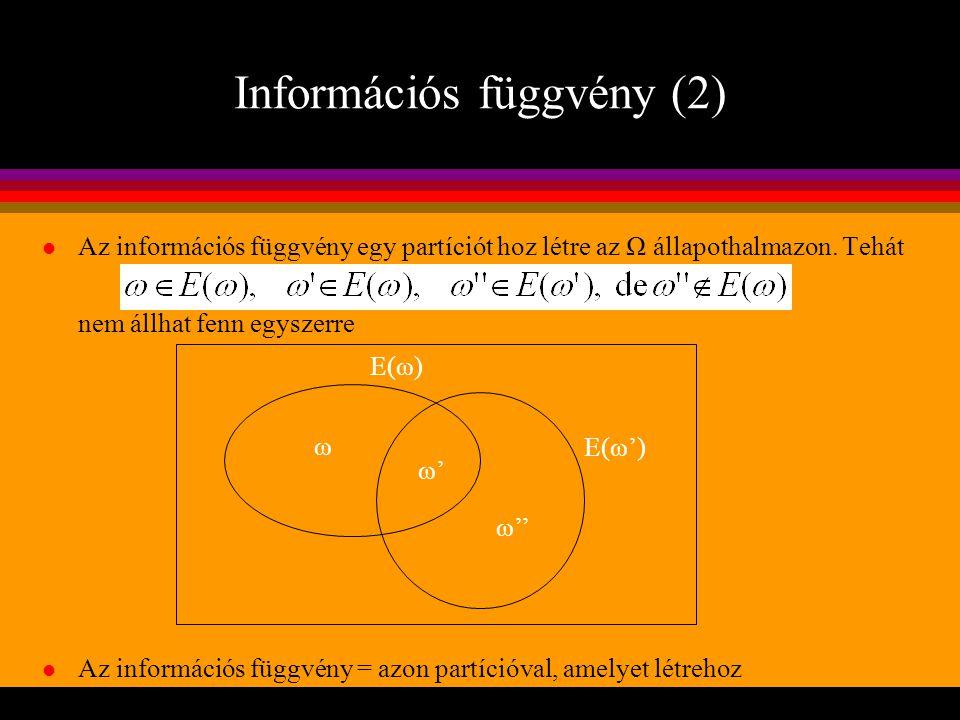 Információs függvény (2)