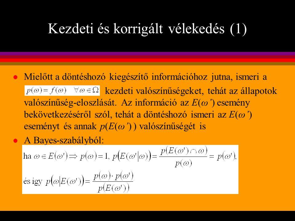 Kezdeti és korrigált vélekedés (1)