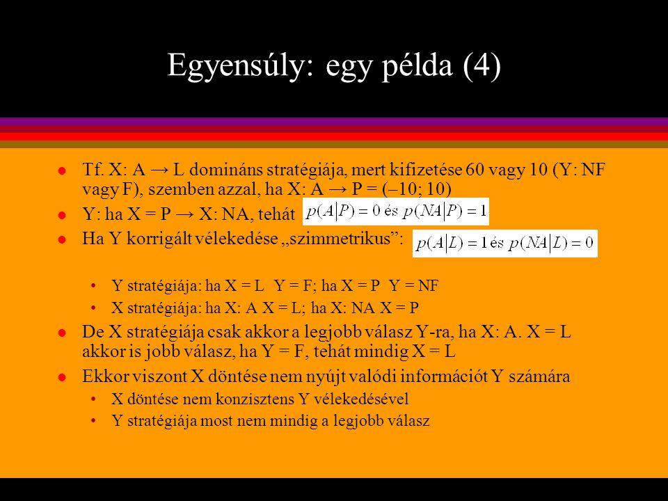 Egyensúly: egy példa (4)