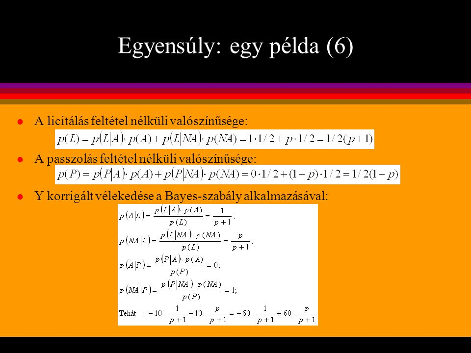 Egyensúly: egy példa (6)