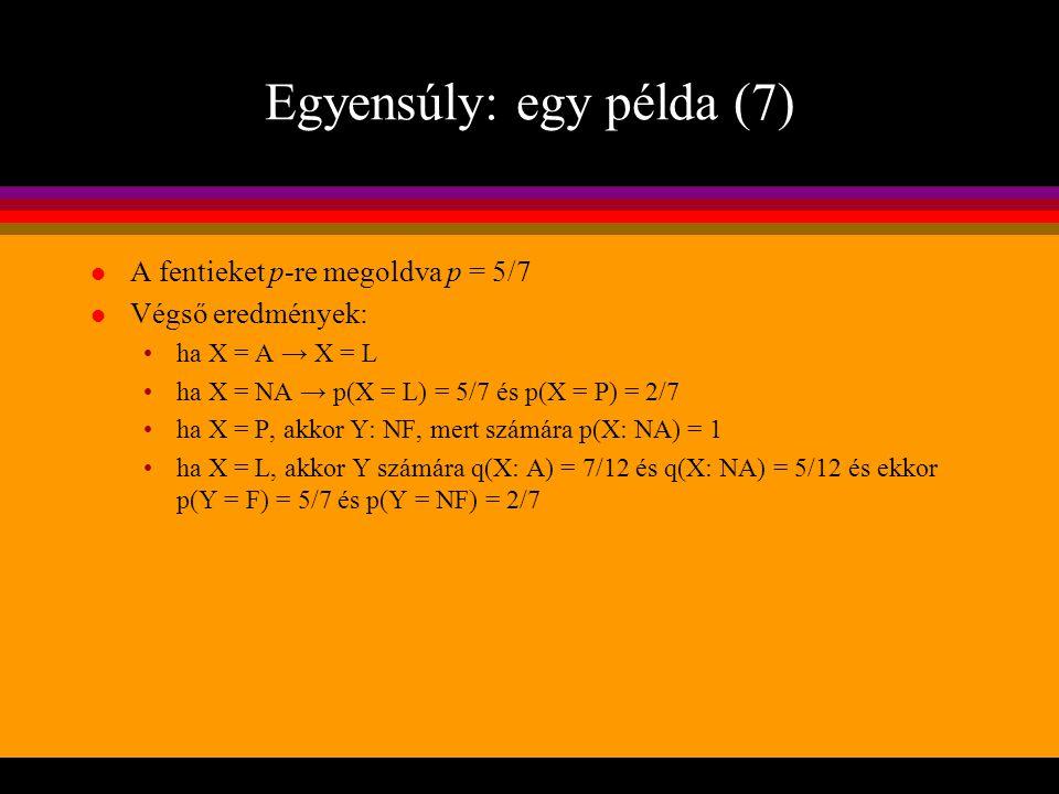 Egyensúly: egy példa (7)