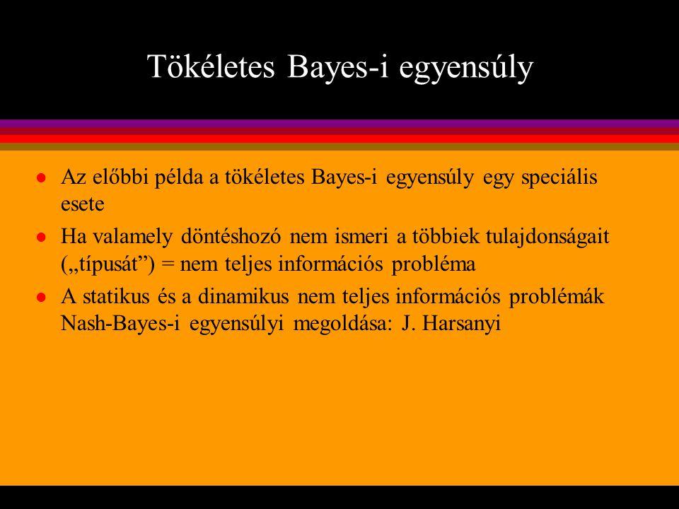 Tökéletes Bayes-i egyensúly