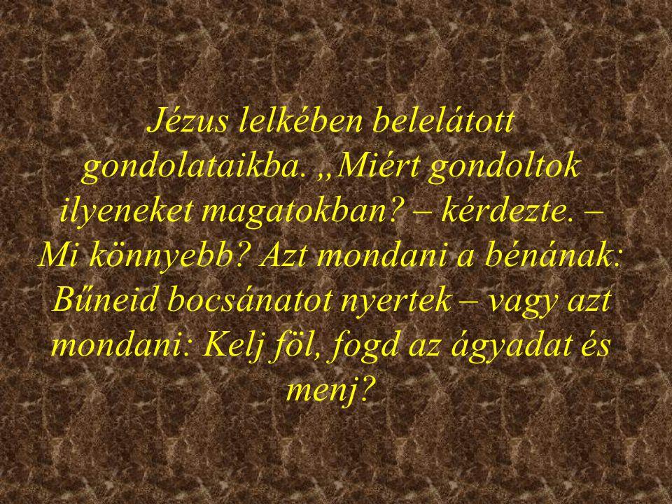 Jézus lelkében belelátott gondolataikba