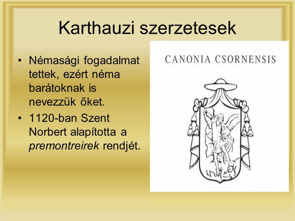 Karthauzi szerzetesek