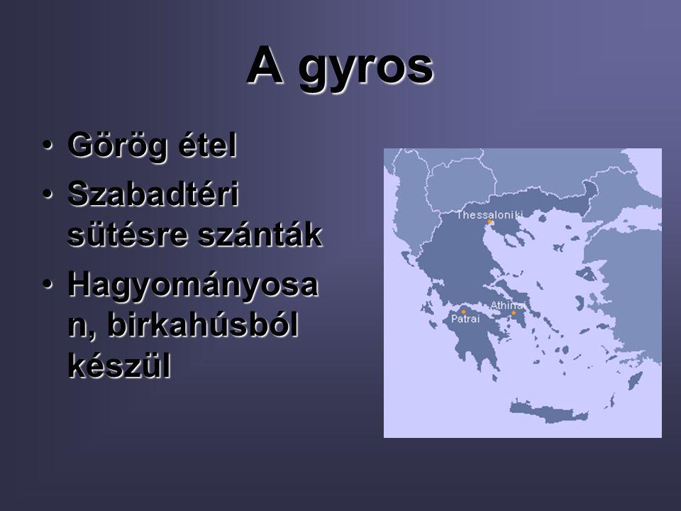 A gyros Görög étel Szabadtéri sütésre szánták