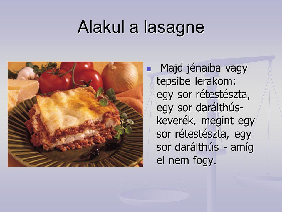 Alakul a lasagne