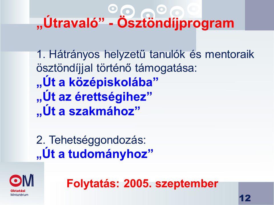 """""""Útravaló - Ösztöndíjprogram 1"""
