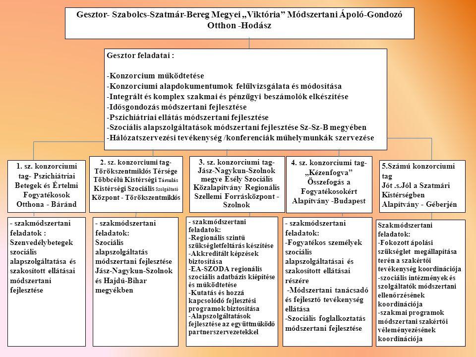 Gesztor feladatai : Konzorcium működtetése. Konzorciumi alapdokumentumok felülvizsgálata és módosítása.