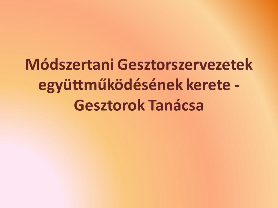 Módszertani Gesztorszervezetek együttműködésének kerete - Gesztorok Tanácsa