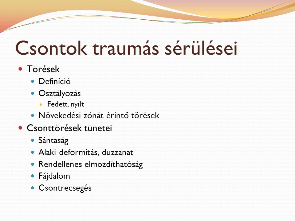 Csontok traumás sérülései
