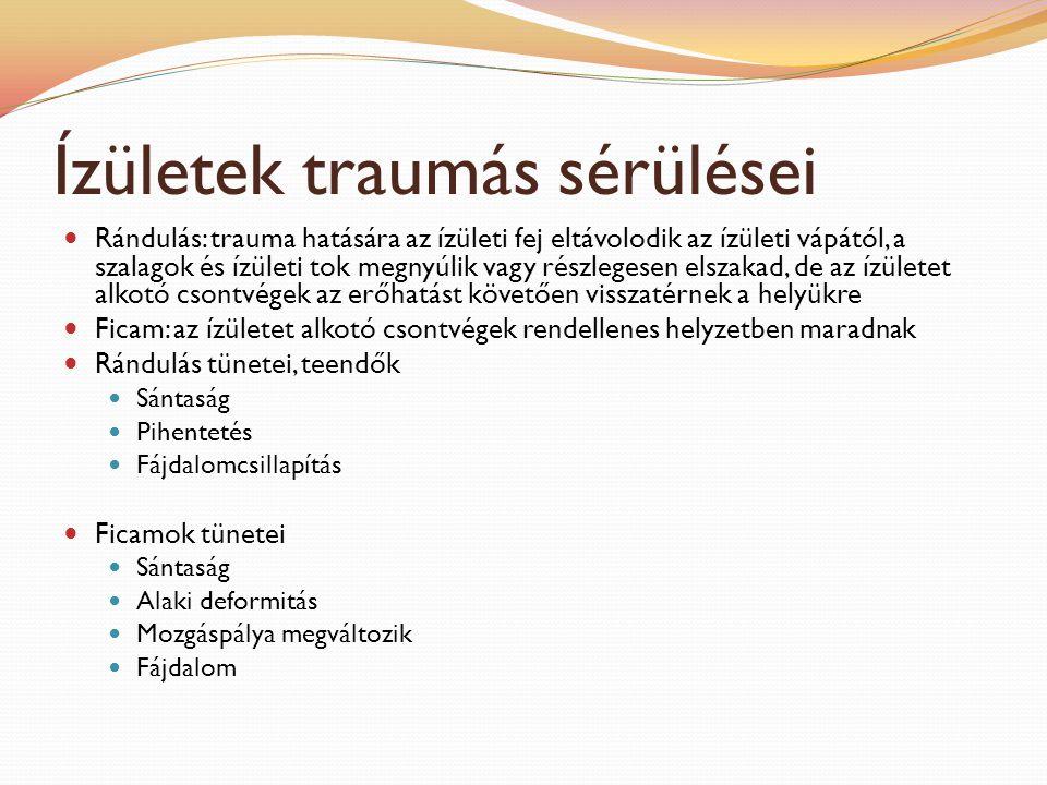 Ízületek traumás sérülései