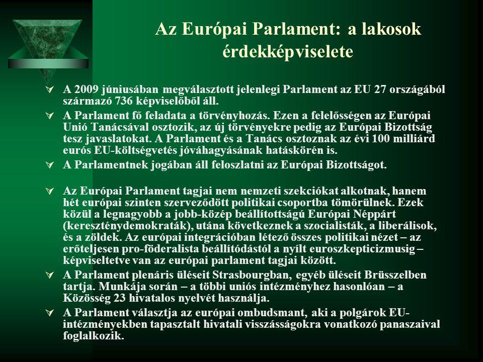 Az Európai Parlament: a lakosok érdekképviselete