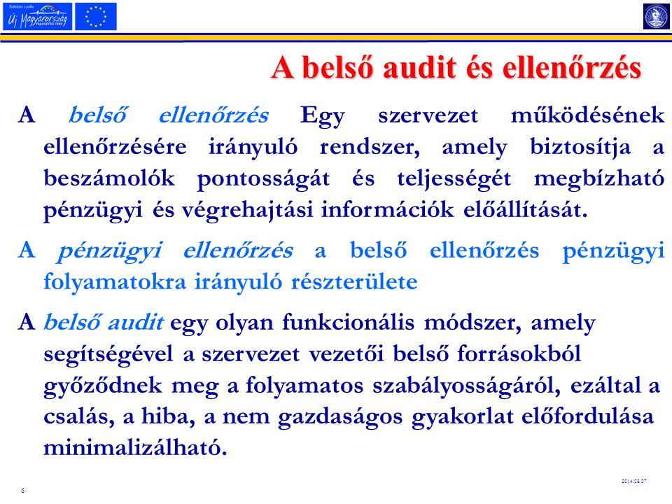 A belső audit és ellenőrzés