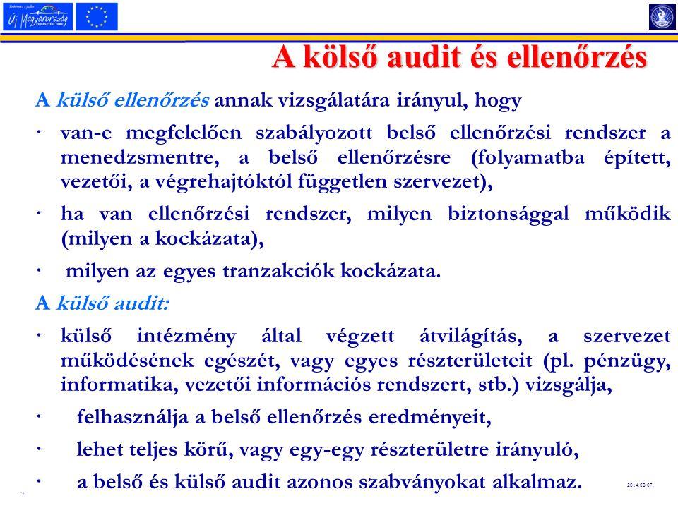 A kölső audit és ellenőrzés