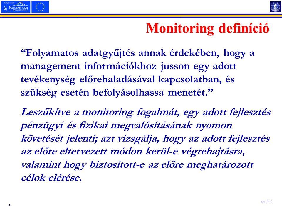 Monitoring definíció