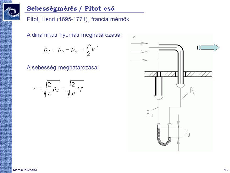 Sebességmérés / Pitot-cső