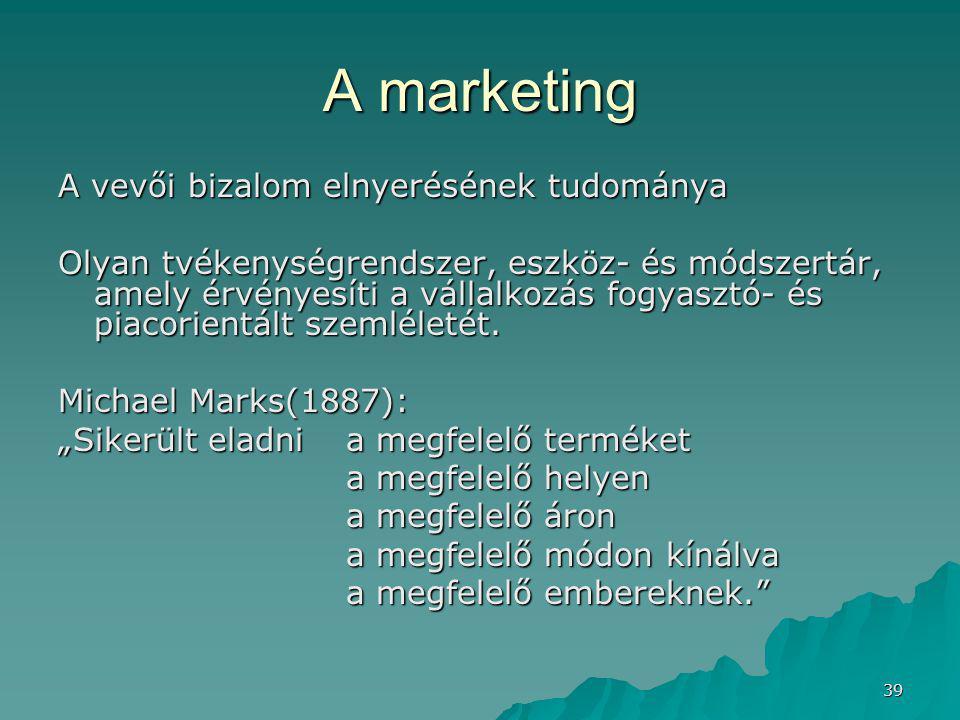 A marketing A vevői bizalom elnyerésének tudománya