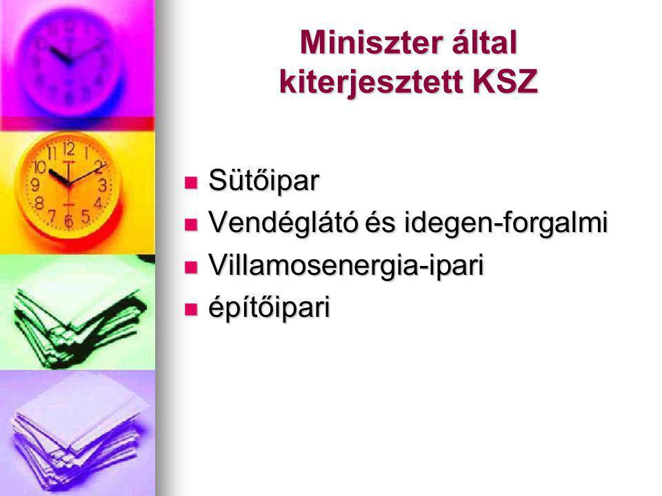 Miniszter által kiterjesztett KSZ