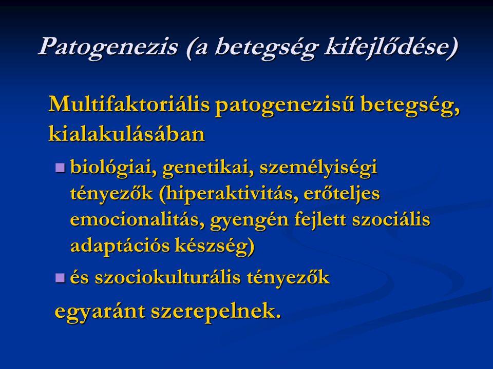 Patogenezis (a betegség kifejlődése)