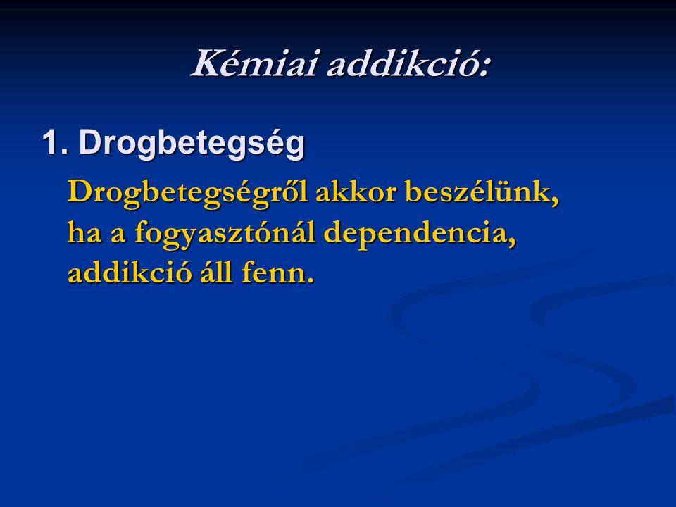 Kémiai addikció: 1. Drogbetegség