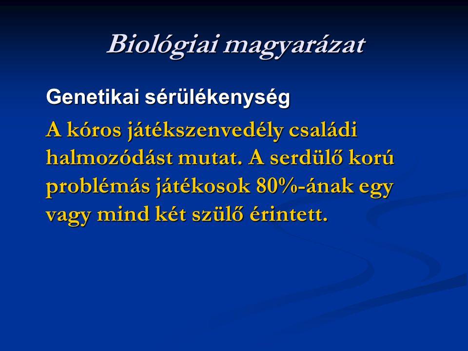 Biológiai magyarázat Genetikai sérülékenység
