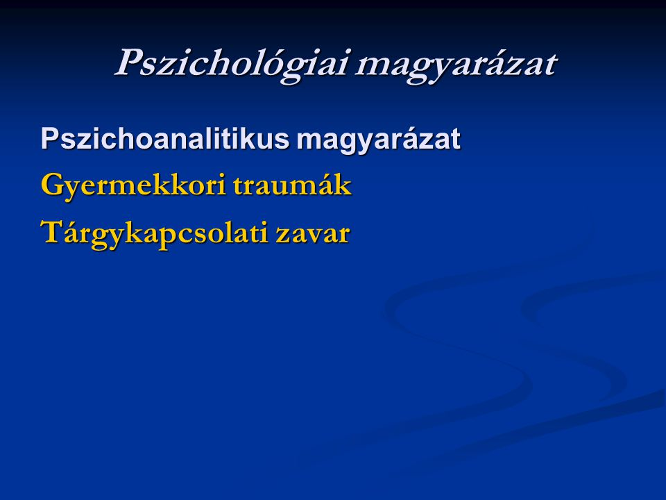 Pszichológiai magyarázat
