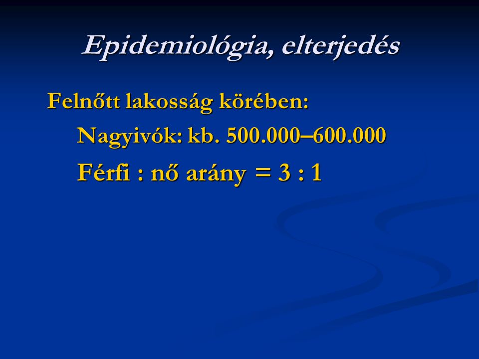 Epidemiológia, elterjedés