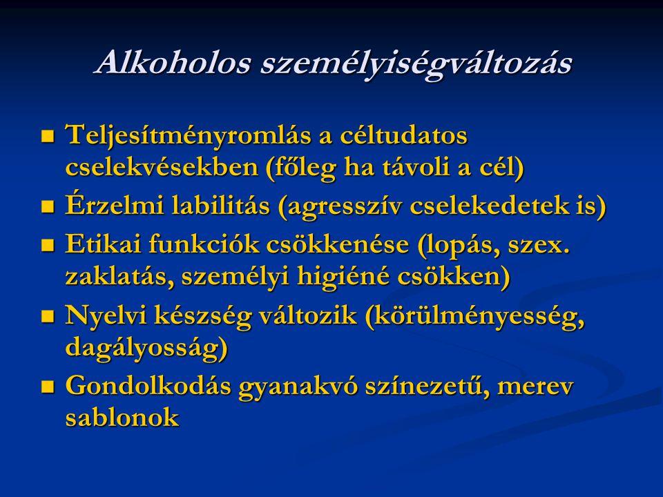 Alkoholos személyiségváltozás