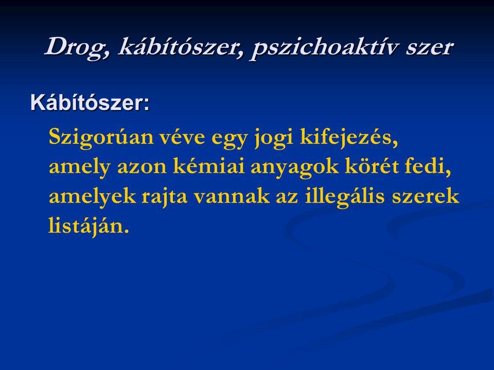 Drog, kábítószer, pszichoaktív szer