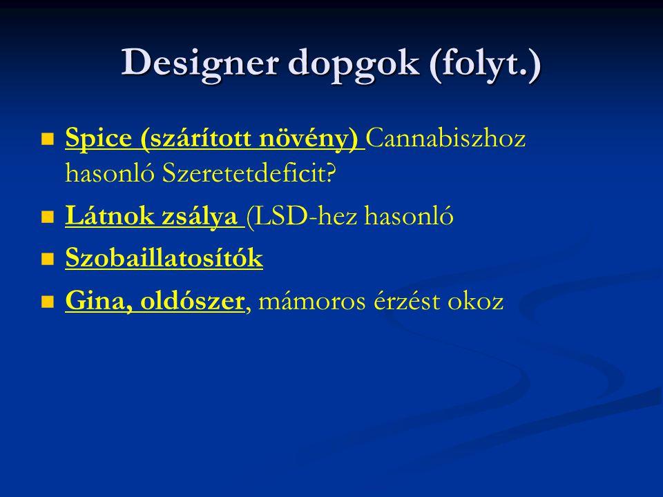 Designer dopgok (folyt.)