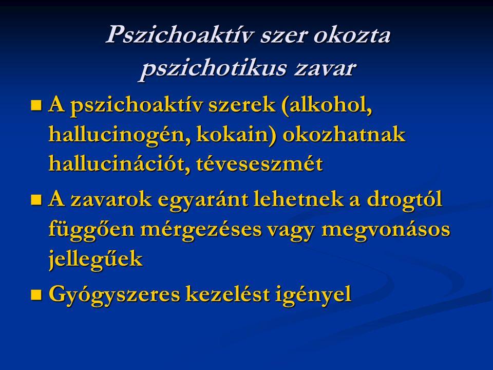 Pszichoaktív szer okozta pszichotikus zavar