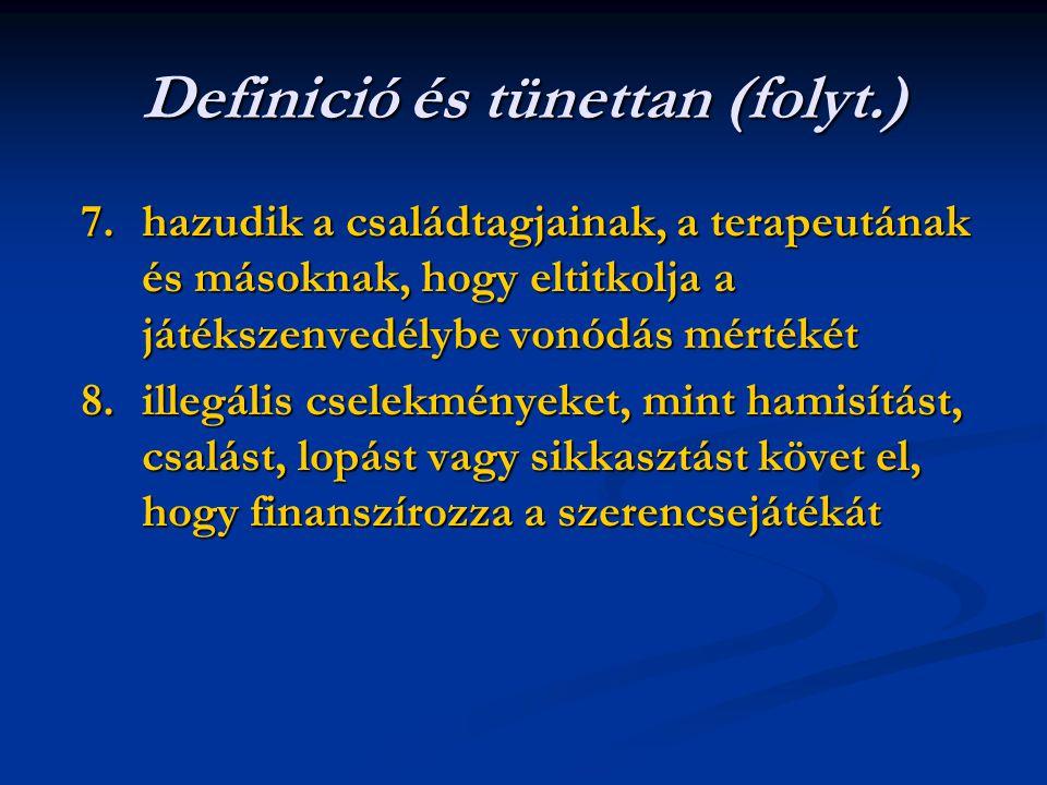 Definició és tünettan (folyt.)