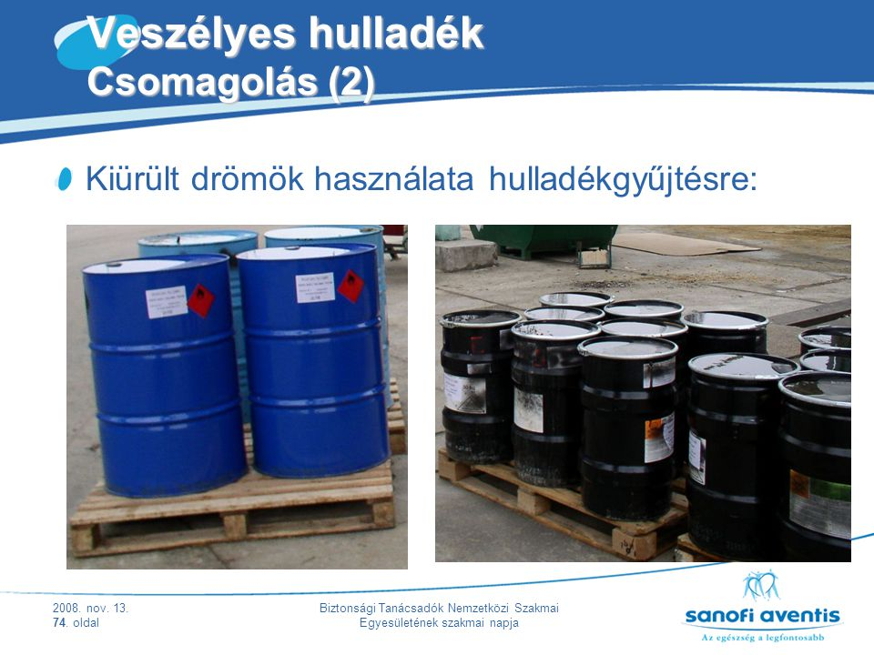 Veszélyes hulladék Csomagolás (2)