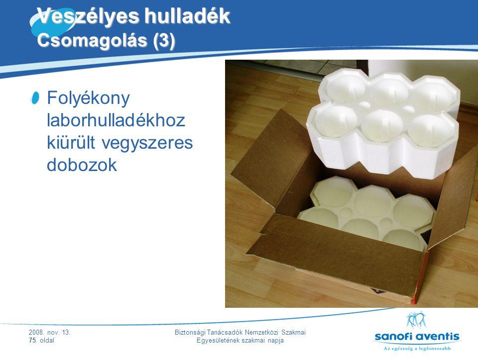 Veszélyes hulladék Csomagolás (3)